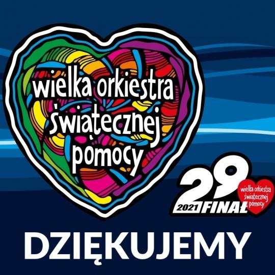 Podziękowania za udział w zbiórce 29 finału WOŚP